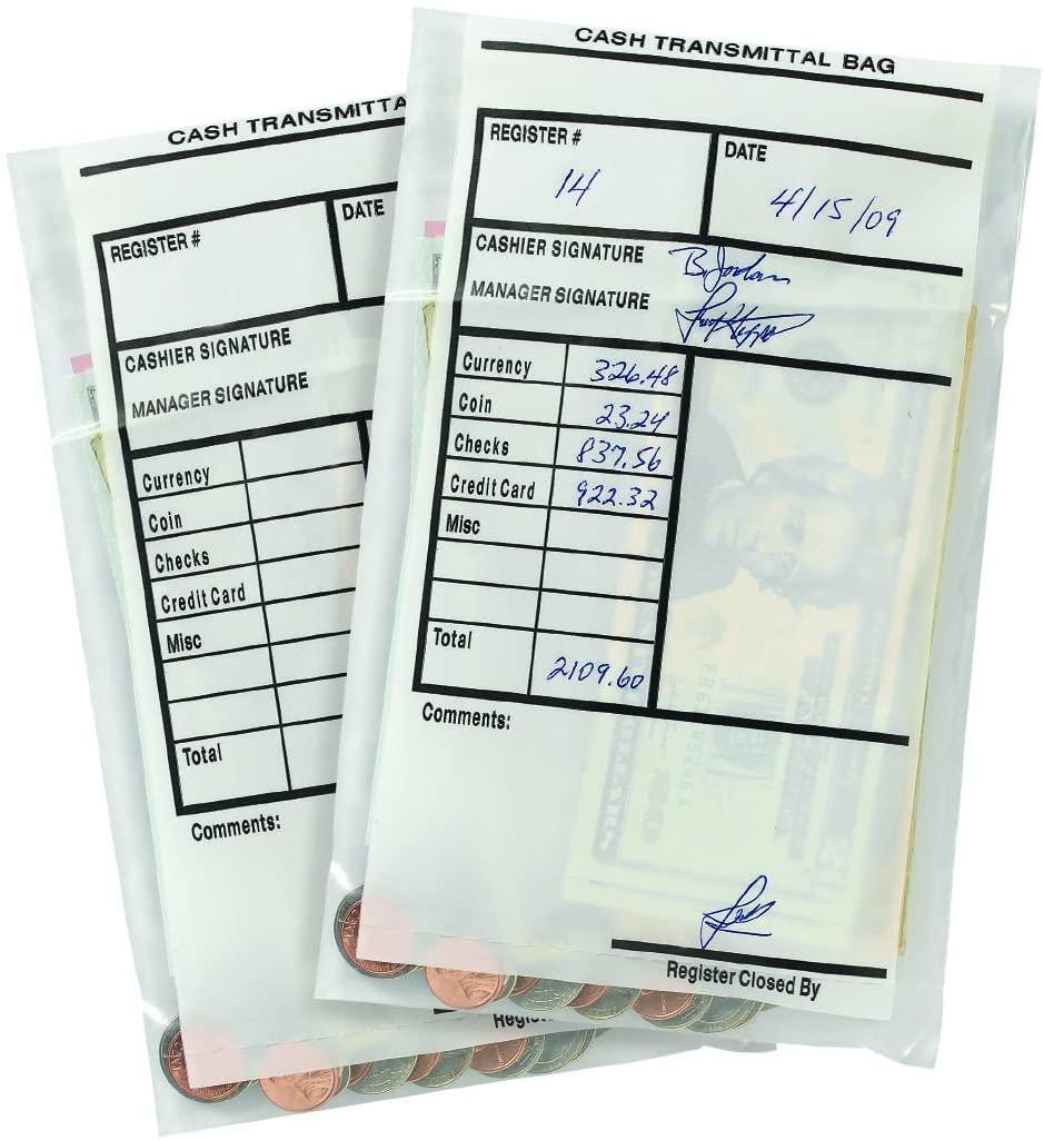 MMF Industries 2.75 mil Cash Transmittal Bags 100 per Pack (236006120)