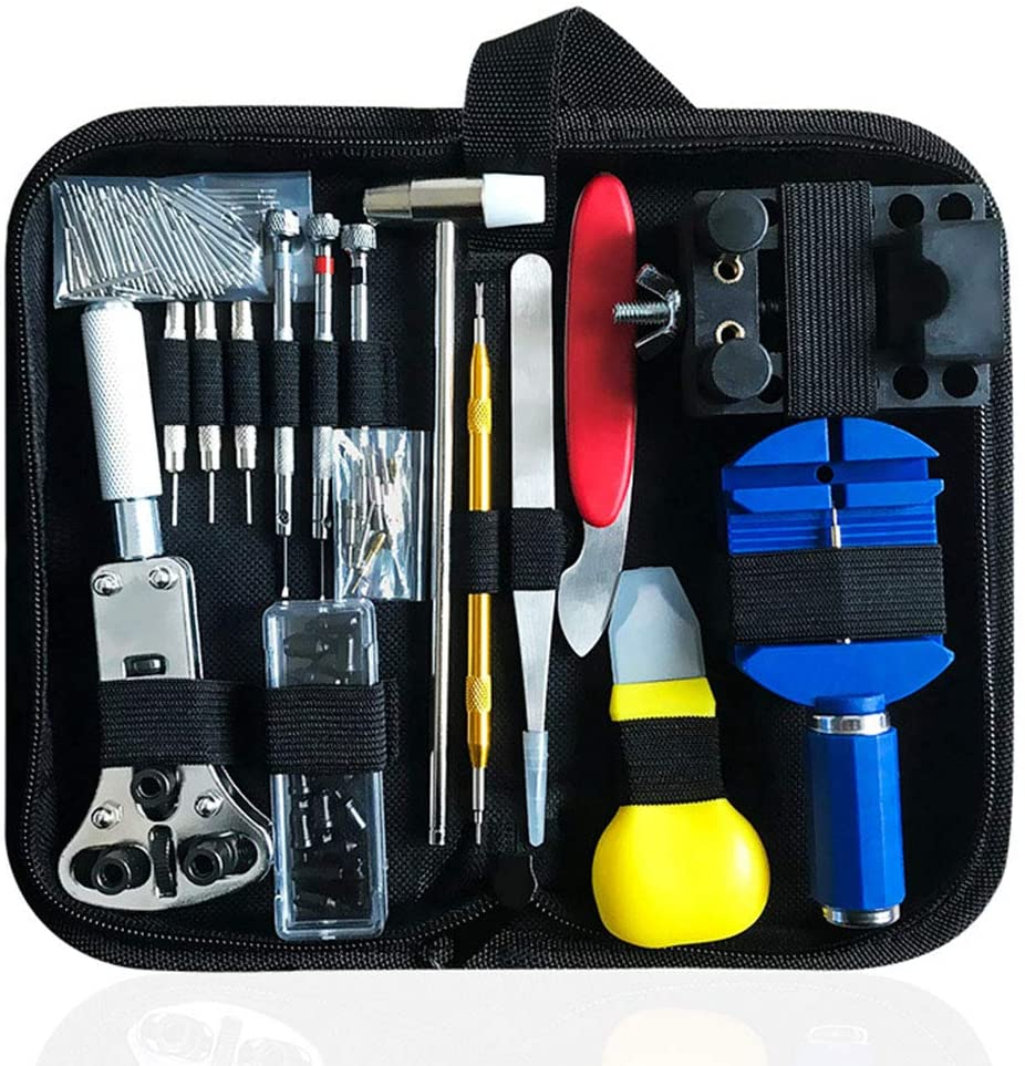 Watch Tool Kit 147pcs Watchmaker Repair With Case Portable Holder Pin Back Case Opener Link Remover Spring Bar