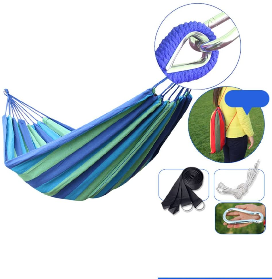 Wxl Widening Increase Anti-folding Thicken canvas Hammock Outdoor camping Double Household Adult Sleeping Indoor Swing