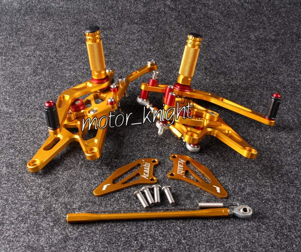 Frames & Fittings Motorcycle Rearset Rear Set for YZF R1 2004 2005 2006 Gold