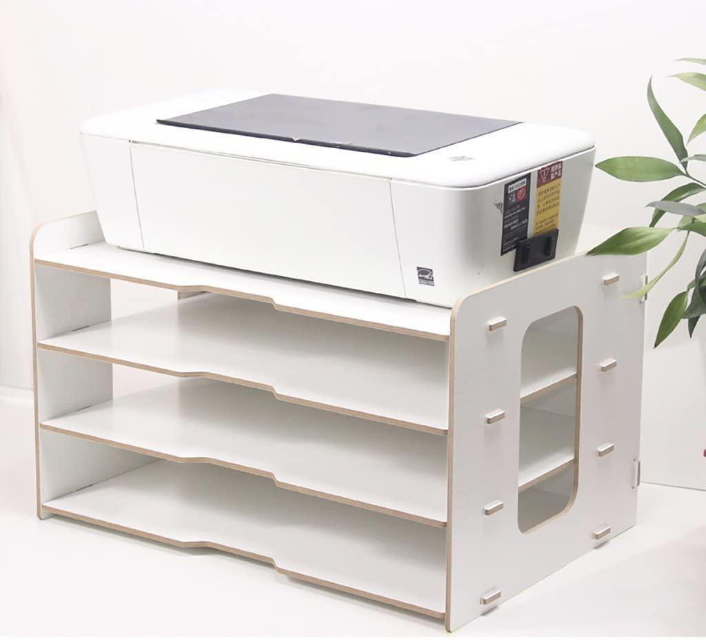 HOMRanger A3 A4 Document Shelf Size 4531.227cm 4 lars Wooden Filing Cabinet, Receipt Storage Cabinet。 (Color : A)