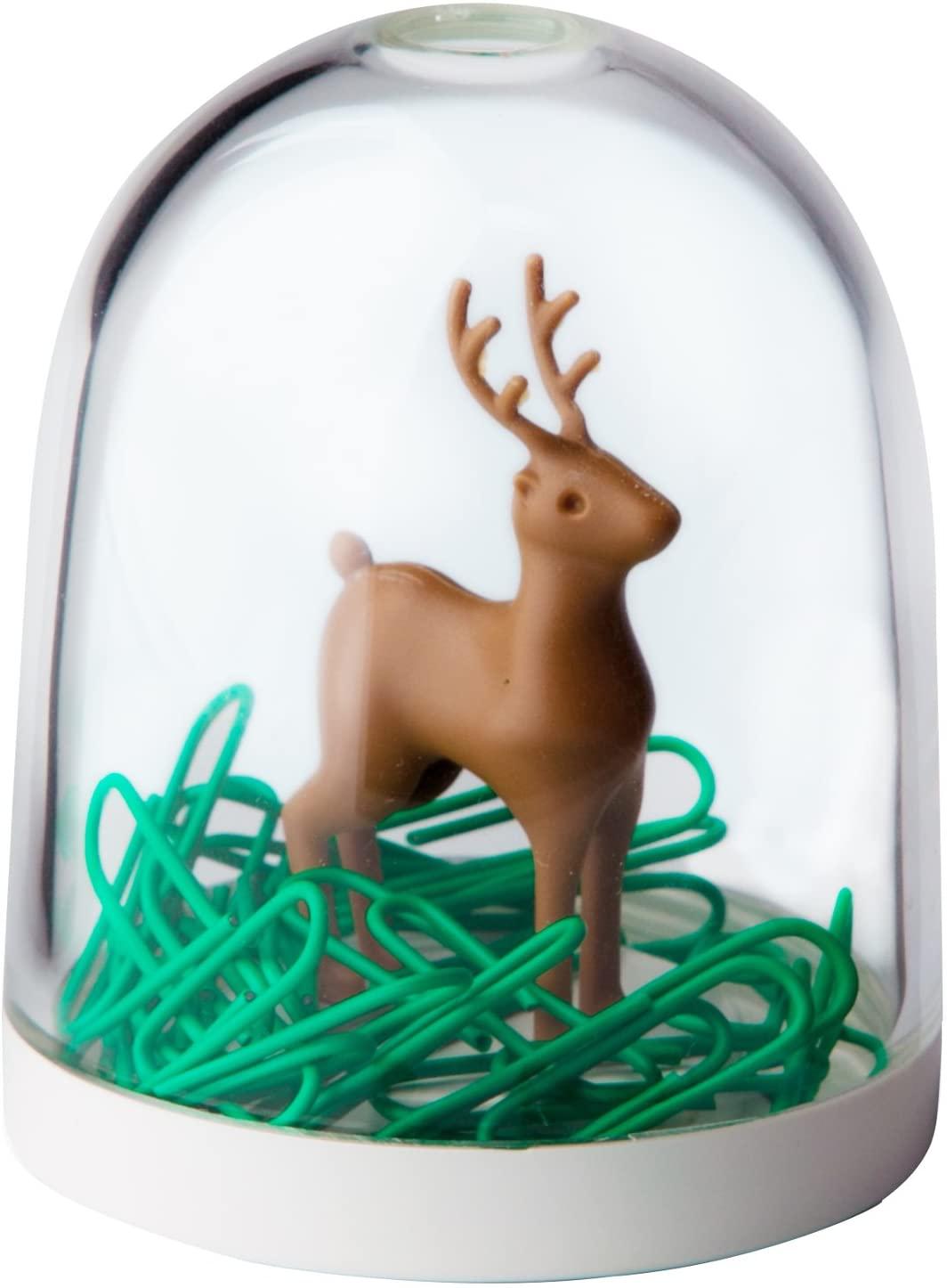 Qualy Design Deer Paper Clip Dispenser