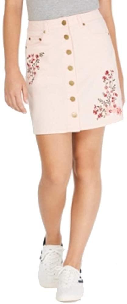 One Hart Juniors' Embroidered Mini Skirt