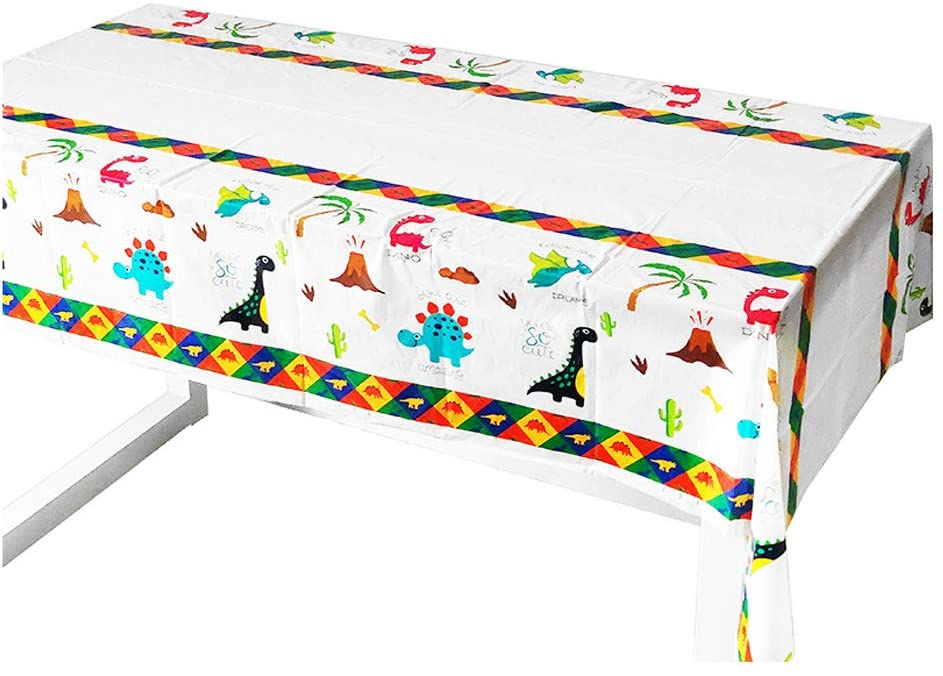 3 Set Dinosaur Dino Theme Table Cloth Cover for Kids Birthday Wedding Baby Shower Party Supplies and Decoration, 71 × 43 inch