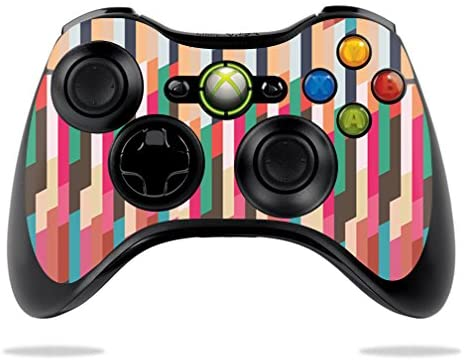 MightySkins Skin Compatible with Microsoft Xbox 360 Controller Case wrap Cover Sticker Skins Crazy Stripes
