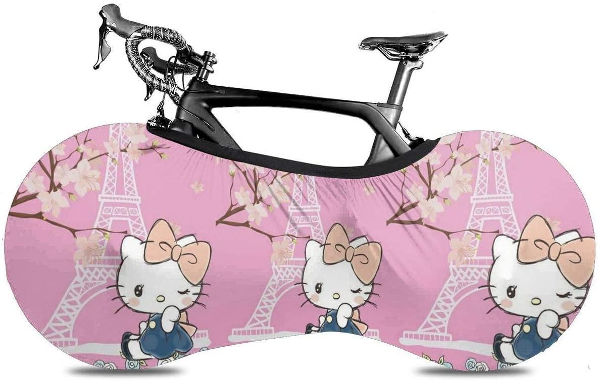 UHBBT Bike Wheel Cover, Dustproof Scratchproof Kitty Stamp Bicycle Storage Bag for Mountain, Road, MTB Bikes