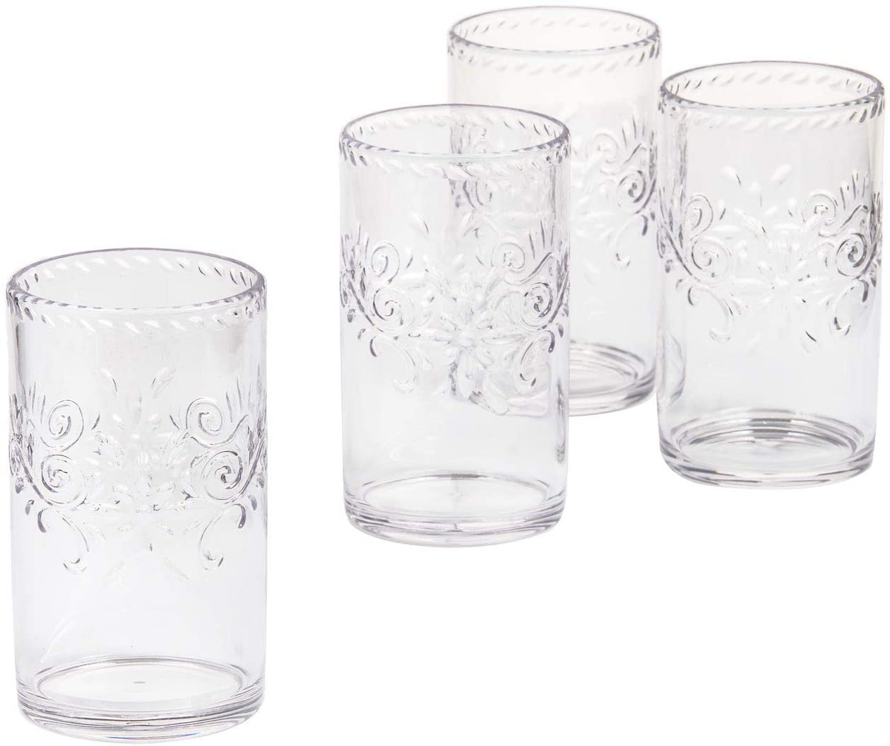 Darice 30061014 Acrylic Cooler Drinkware, Set of 4, Clear