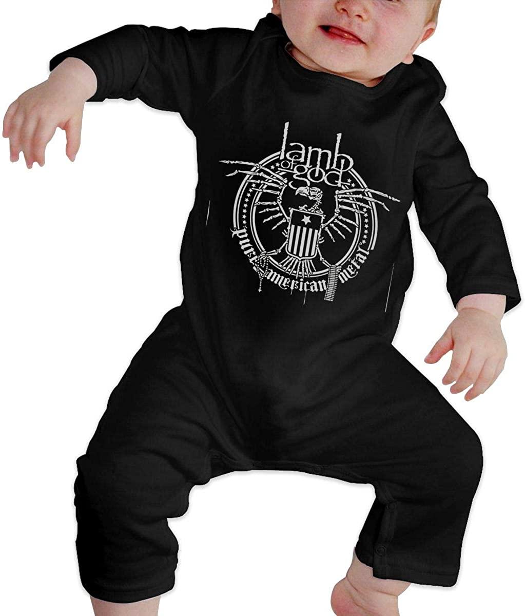 Baby Lamb of God Pure American Metal Long Sleeve Jumpsuit