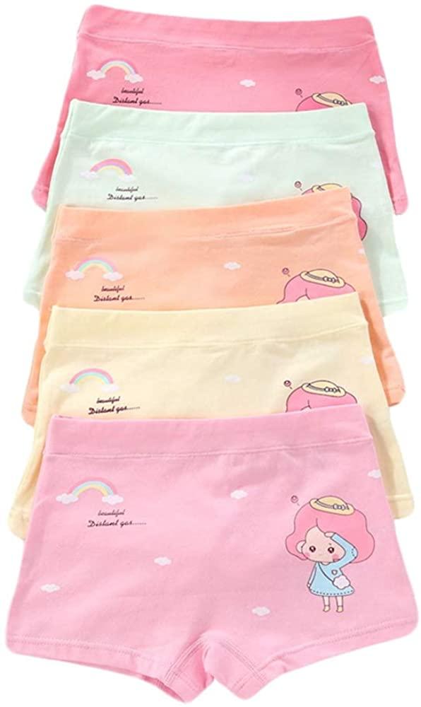 Girl Floral Underwear Briefs Knickers Cute Panty Bundle Pack of 5