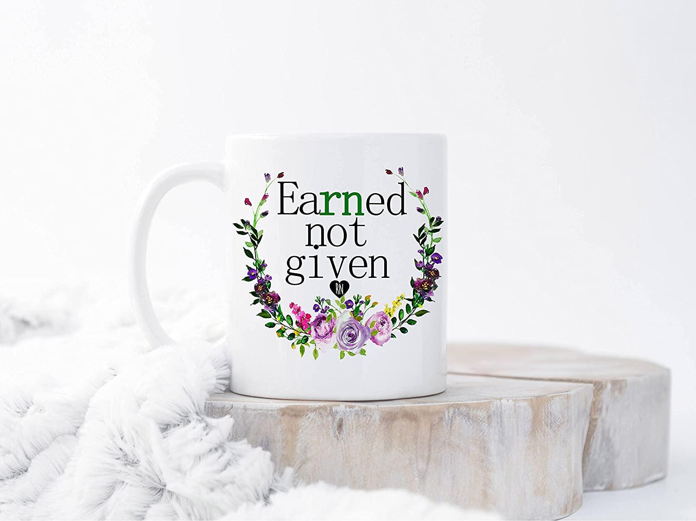 Earned Not Given Nurse Mug, Nurse Mugs, Nurse Graduation Gift, RN Mugs, Nursing School Gift, Nurse Gift, Registered Nurse Gift, RN Nurse Cup