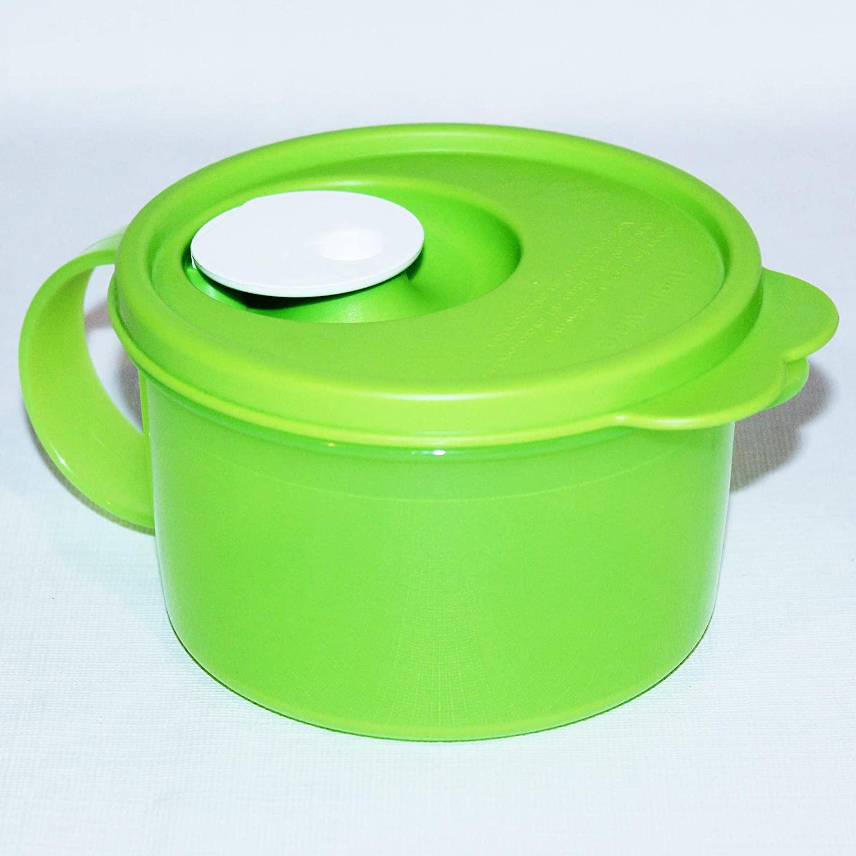 Tupperware (1) Crystalwave Soup Mug 2 Cups Microwave Safe Green White