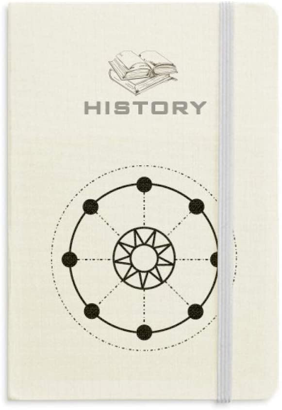 Shape Totem Geometry Sun Star History Notebook Classic Journal Diary A5
