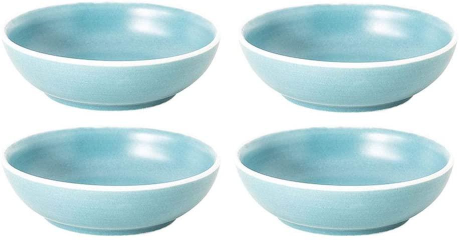 FUYU 4pcs ceramic sauce dish Seasoning Dishes dipping dish Side Dish Snack Dish Appetizer Plate