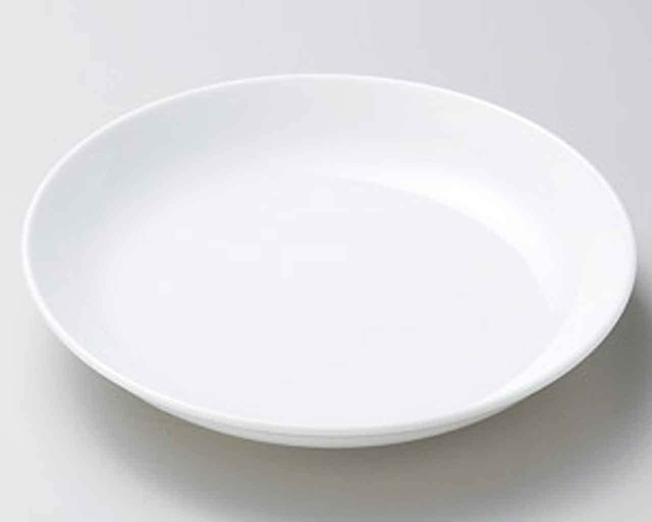 Karun 8.6inch Set of 2 Medium Plates White porcelain Made in Japan