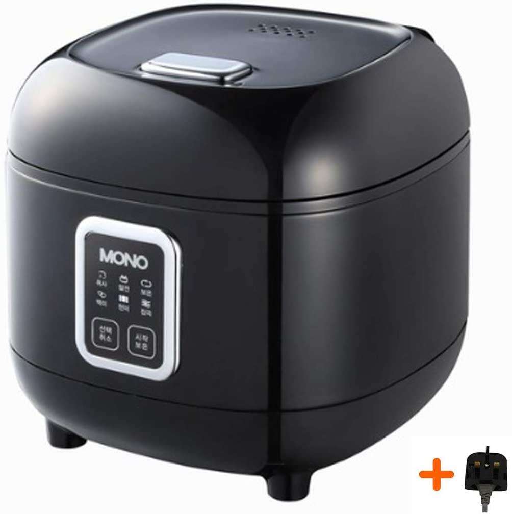 PN MONO Premium Electric Rice Cooker For 3 People CUPS Steamer MPRCKA-03 Black 220V 60Hz