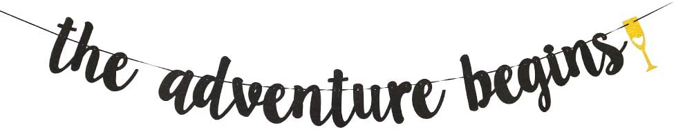 The Adventure Begin Banner,Travel Themed Party Supplies,Birthday Graduation Retirement Farewell Adventure Party Decor.