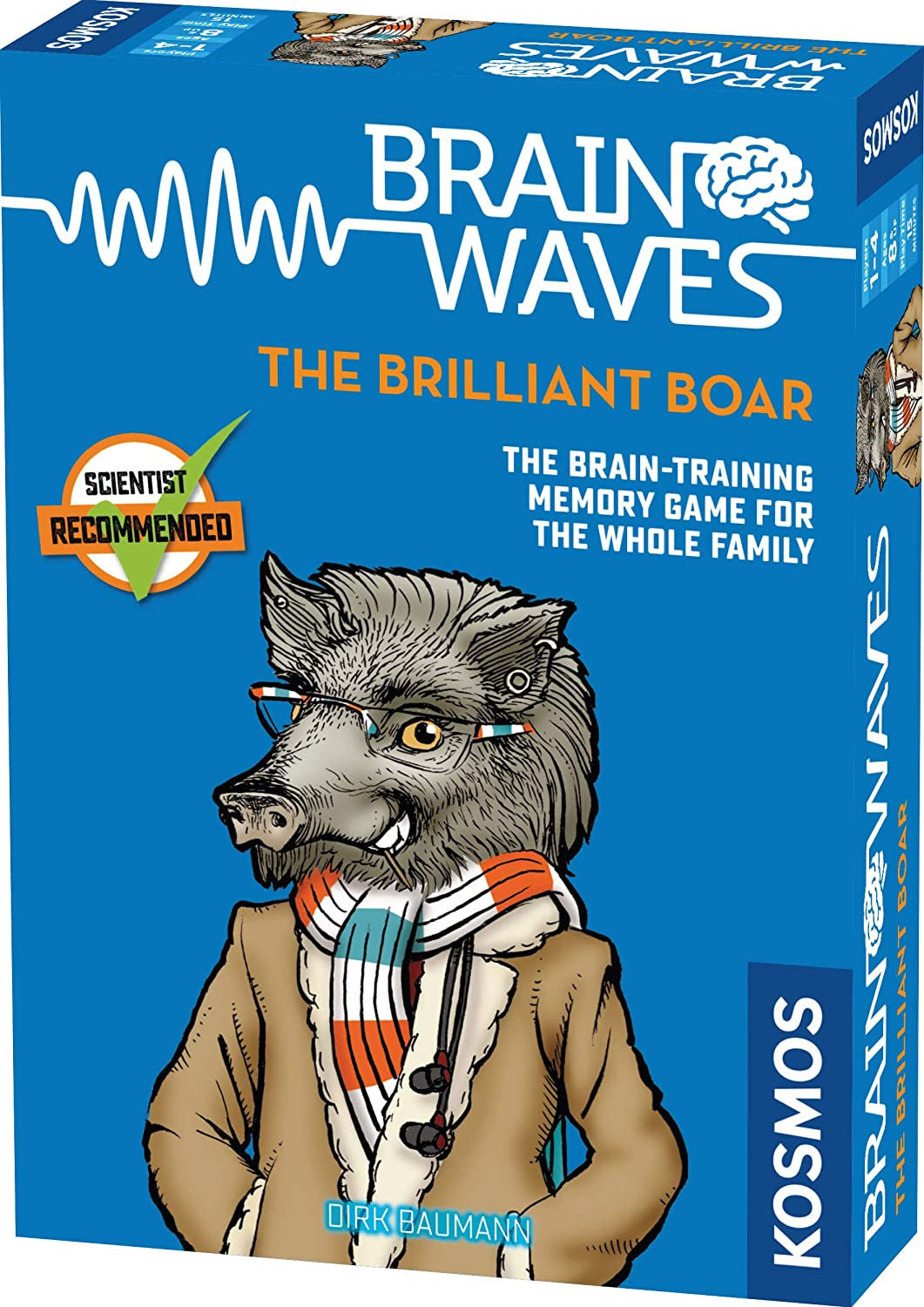 Brainwaves: The Brilliant Boar - A Kosmos Game from Thames & Kosmos | Fun, Scientist Approved, Family-Friendly Games to Sharpen Your Mind & Train Your Brain, for Ages 8+