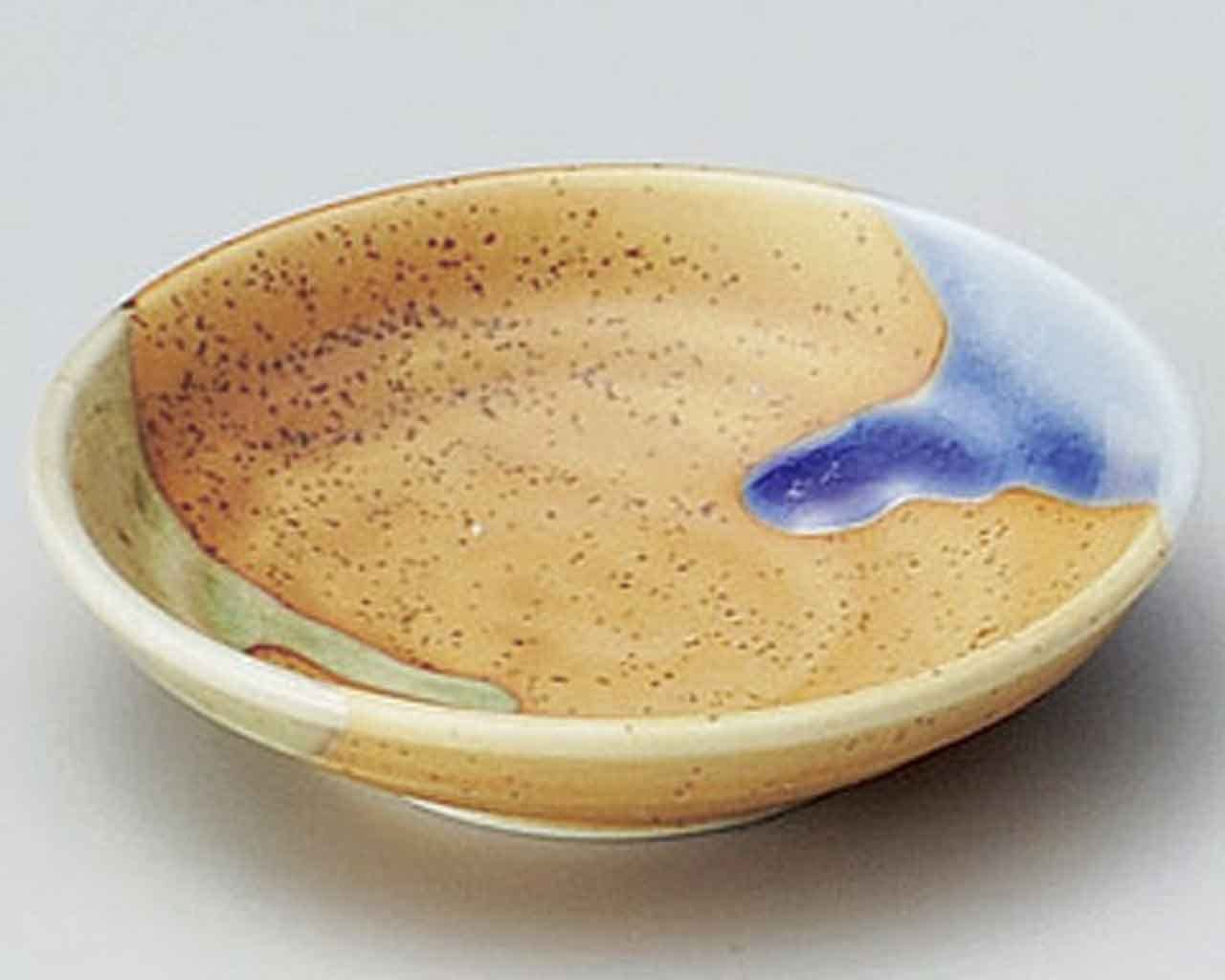 Sansai 3.7inch Small Plate Beige porcelain Made in Japan