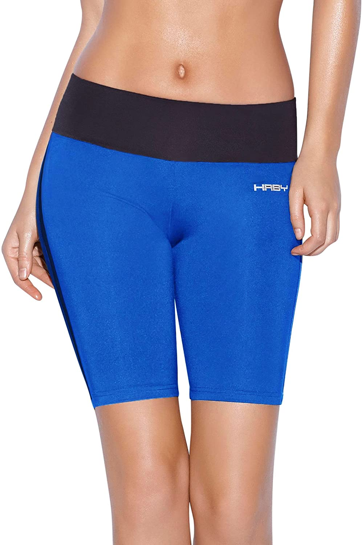 Haby Women's Sportswear Cycling Gym Shorts Wide Waistband