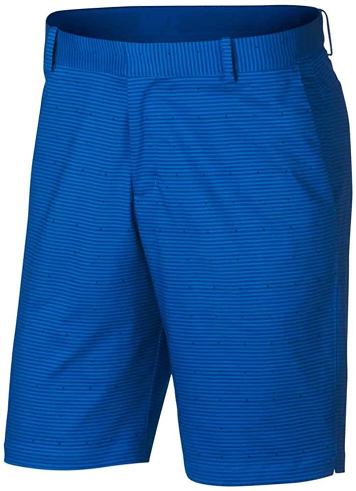 Nike Flex Slim Print Golf Shorts 2018 Blue Nebula/Flat Silver 30