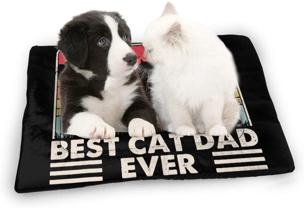 Zxhalkhfd Best Cat Dad Ever Pet Sleep Mat Silk Cotton Reusable Pet Bed