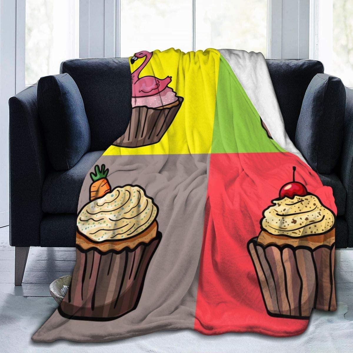 Micro Fleece Plush Soft Baby Blanket Cartoon Cute Cupcakes Fluffy Warm Toddler Bed/Crib Blanket Lightweight Flannel Daycare Nap Kids Sleeping Tummy Time Throw Blanket Girls Boy Clearance Kid/Baby