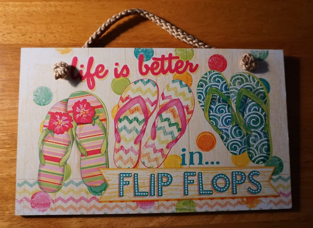 Life Is Better In Tropical Pink Pool Beach Summer Sign Home Decor
