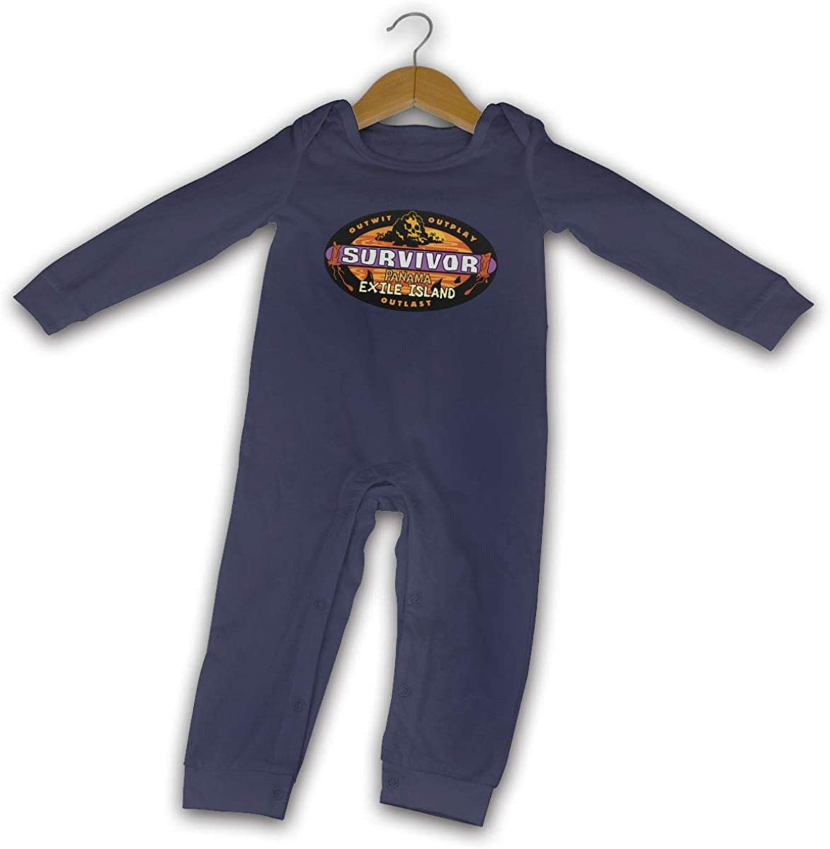 Honshang Baby's Black Romper for Baby Boy Cute Jumpsuits Pana_Ma Exi_Le I_Sland Infant Onesies