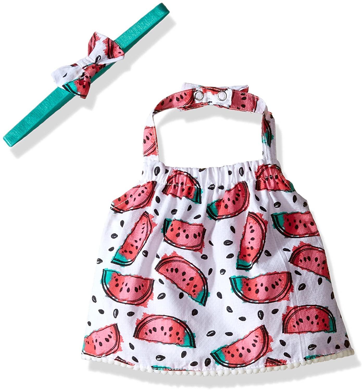 Rosie Pope Baby Girls' Watermelon Crop Halter Top