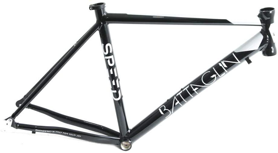 Battaglin Speed 700c SM 48cm Aluminum Road Bike Frame Black/White New