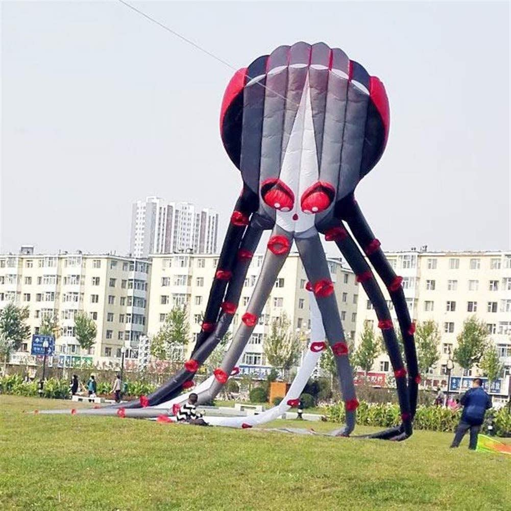 MJC Children Kite Kite, Kids Kite Fun Kites for Kids Easy to Fly with Outdoor Sports 3D 26m 20m Large Octopus Kite Breeze (Color : 20m)