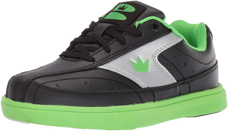 Brunswick Youth Renegade Bowling Shoes- Black/Neon Green