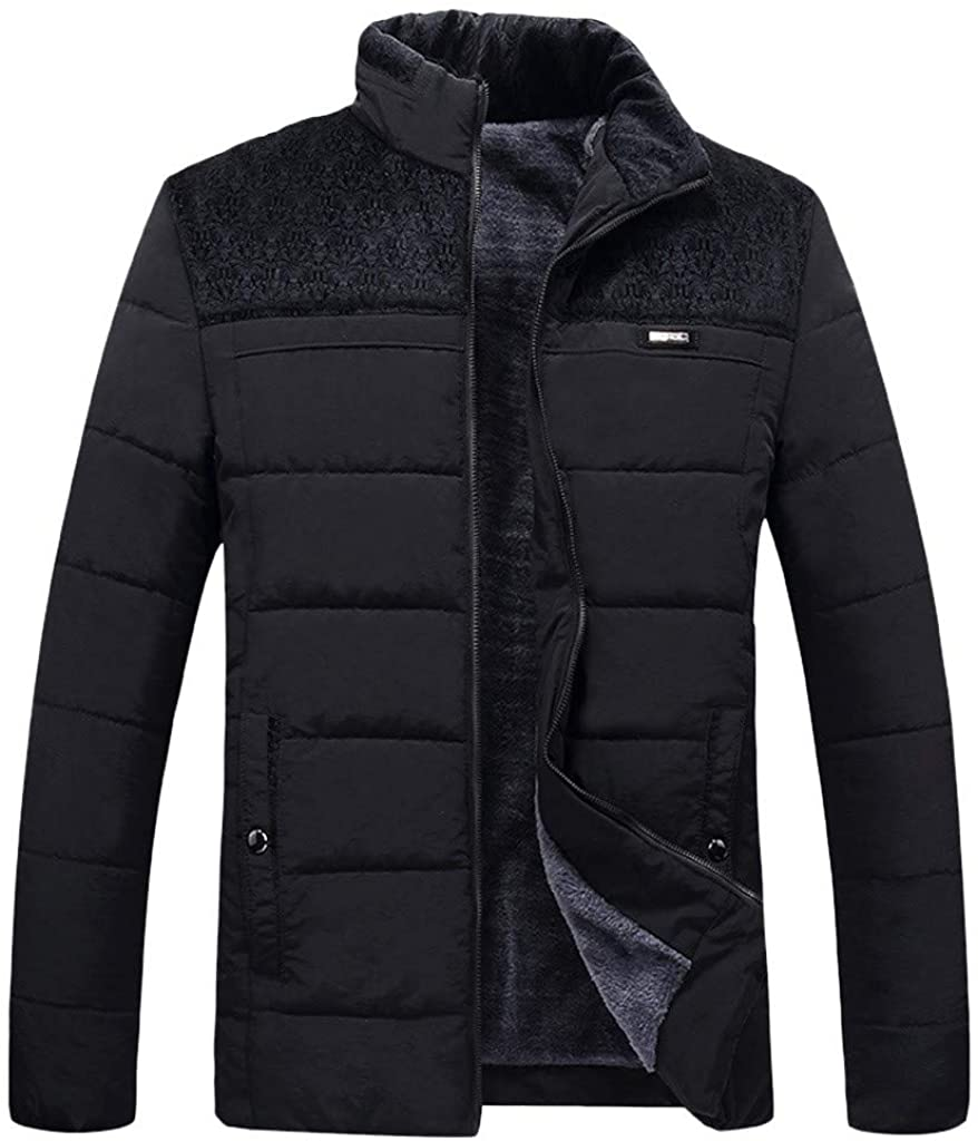 Bowake Men's Lightweight Warm Fleece Jacket Zip Up Winter Outerwear Hiking Traveling