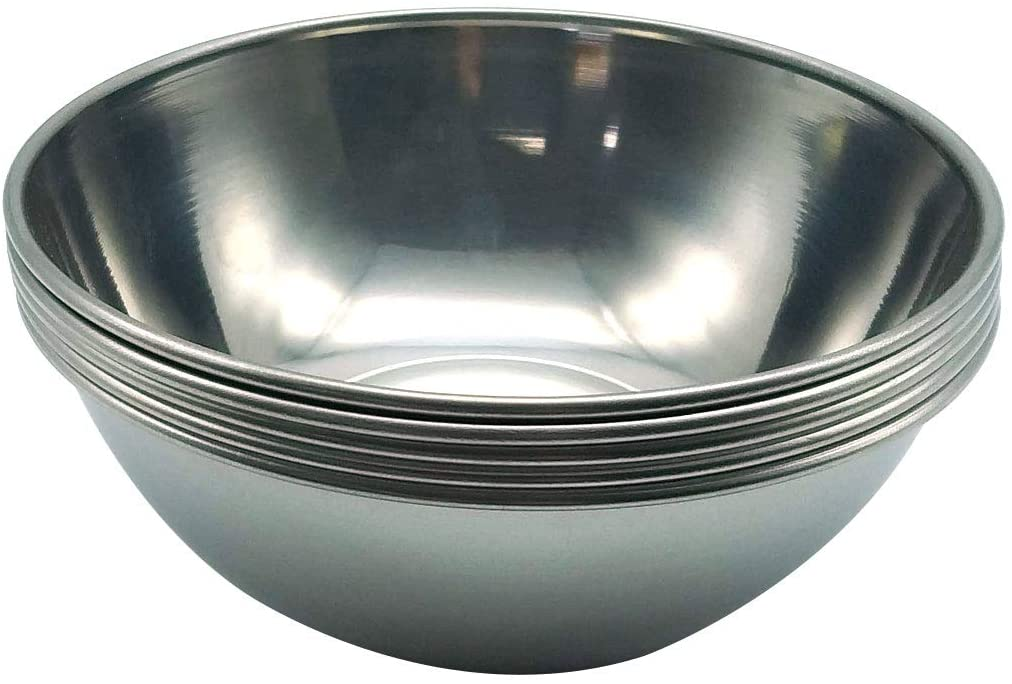 5pcs Stainless Steel Hot Pot Dipping Table Small Dish Bowl Plate Set for Side Dish, Sauce 4.7inches