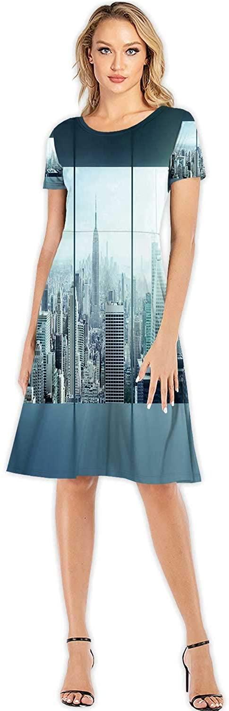 C COABALLA Christmas,Fashion Women Slim Party Dress S