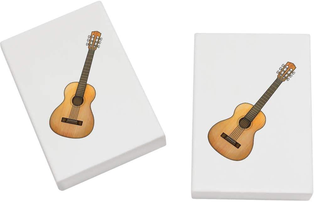 Azeeda 2 x 45mm 'Acoustic Guitar' Erasers / Rubbers (ER00021280)