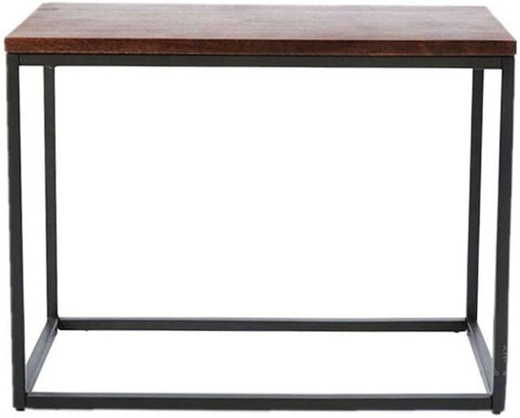 GWW Perfect FurnitureVintage Coffee Table, Industrial Style Iron Art Rectangle Wooden Table Restaurant Bar Decorative Table Dining Table Coffee Table Sofa Table Negotiating Table 625528CM Tea Table