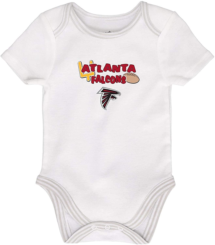 NFL Team Apparel Atlanta Falcons Goal Post Infant One Piece Size 9 Months Bodysuit - White