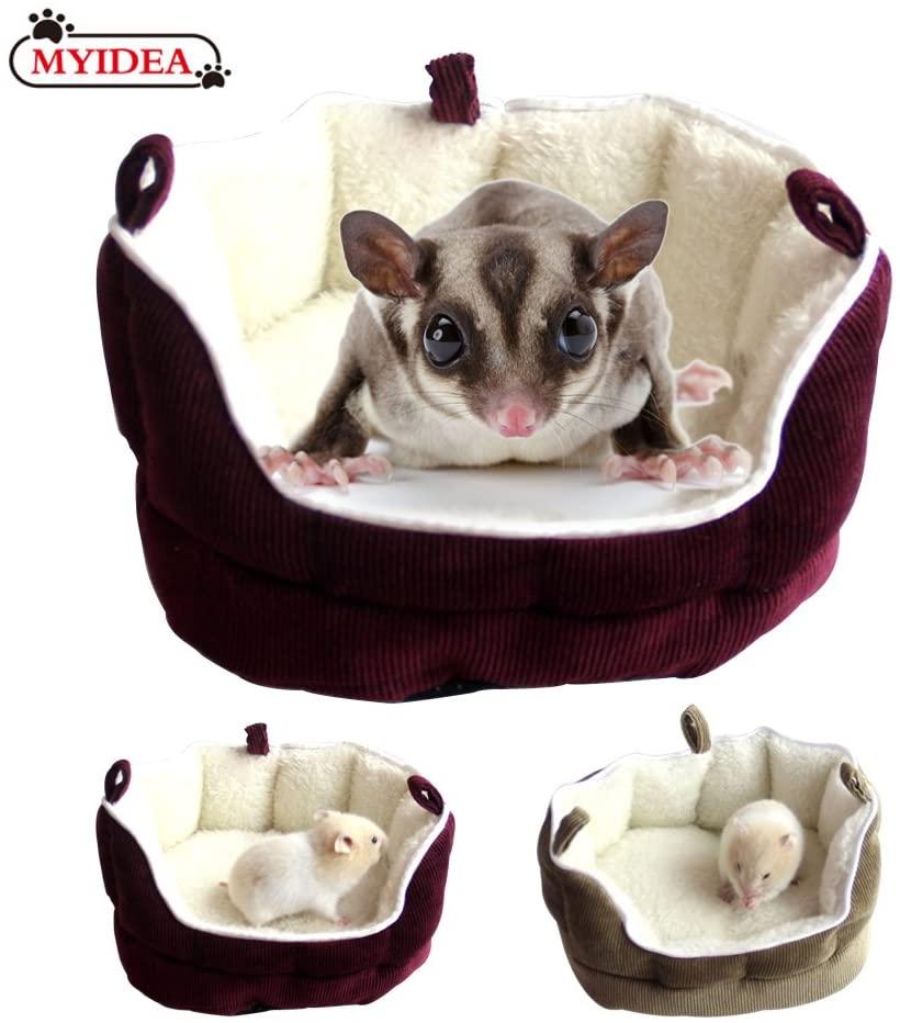 MYIDEA Sugar Glider Hamster Bag -for Small Animal Hamster Sleeping Nest, Hideaway Bed Travel Bag