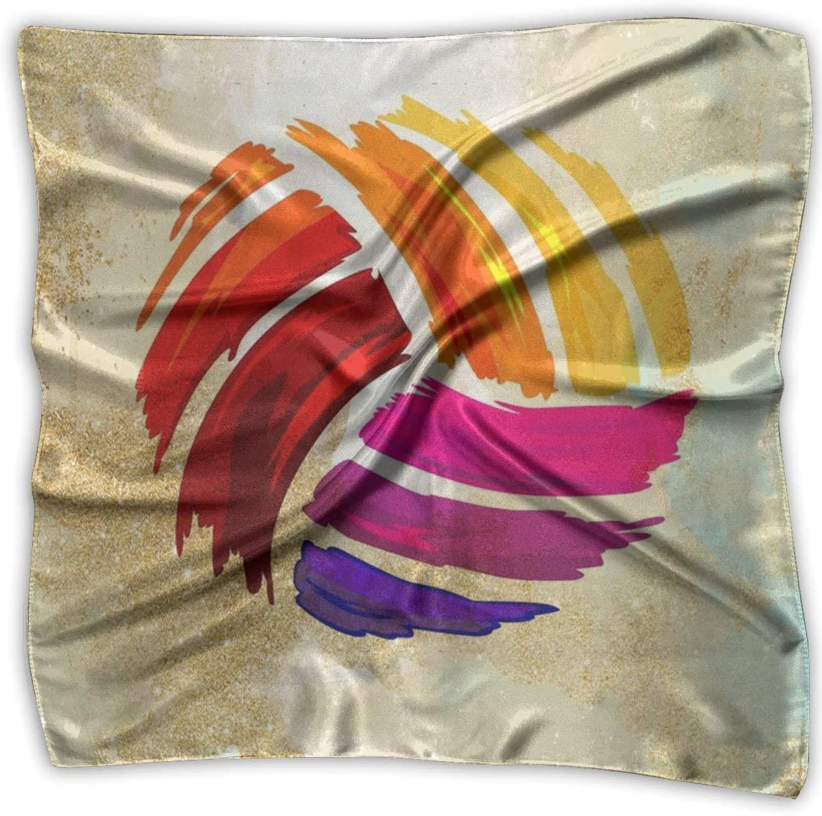 WFIRE Colorful Volleyball Square Handkerchiefs Scarf Shawl Bandanas Headscarf Neckerchief Tie Hair Scarf