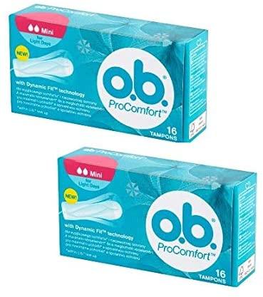 O.b. Pro Comfort Tampon Mini 16 Pieces X 2 Packs