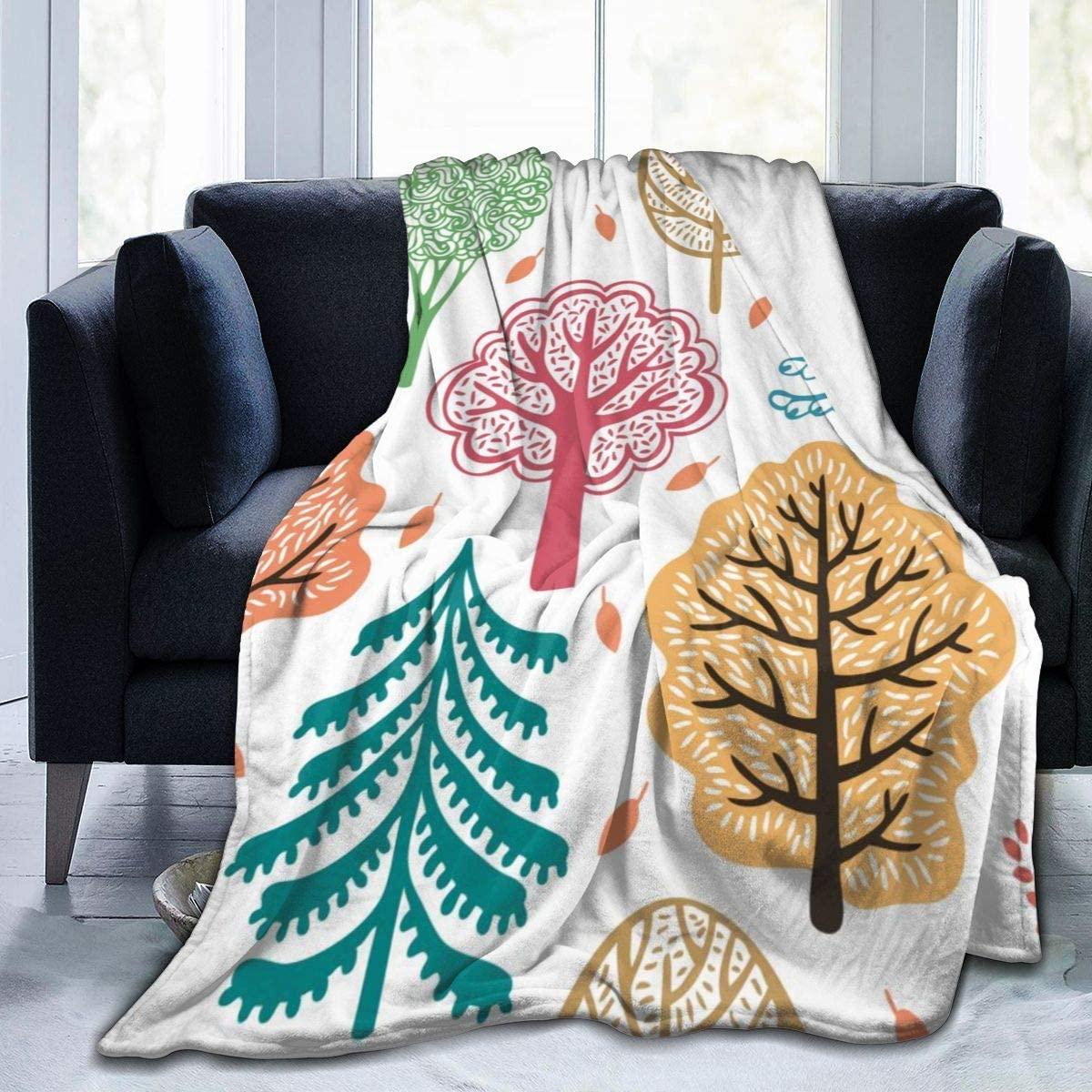 Micro Fleece Plush Soft Baby Blanket Autumn Forest Seamless Fluffy Warm Toddler Bed/Crib Blanket Lightweight Flannel Daycare Nap Kids Sleeping Tummy Time Throw Blanket Girls Boy Clearance Kid/Baby