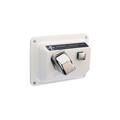 Push Button Surface Mounted Hand/Hair Dryer Voltage: 208 / 230, Cover Color: White