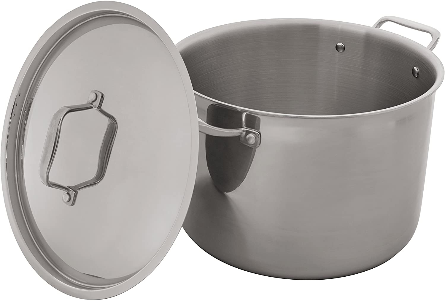 DHgate Brand – Stone & Beam Tri-Ply Stainless Steel Stockpot, 12-Quart