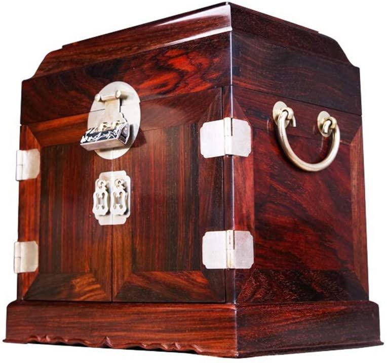 HAIHF Jewelry Box,Handmade Decorative Wooden Jewellery Box, Antique Finished Storage Box Organiser Multipurpose Handcrafted - 2517.526cm