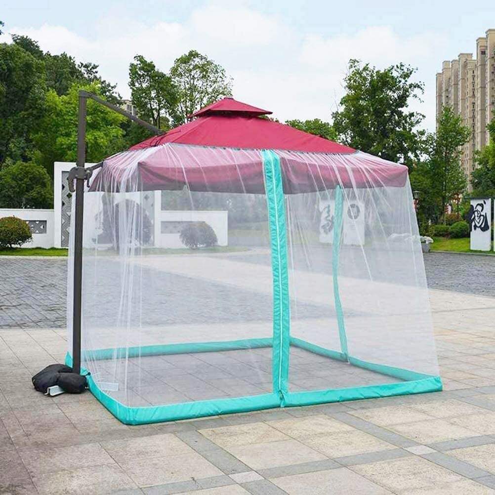 Mosquito net for parasol, Outdoor Garden Umbrella Table Screen Umbrella Net Cover Screen Outdoor Garden Umbrella Table Screen Parasol Mosquito Net Cover for Patio Furniture with Zipper - Excluding Umb