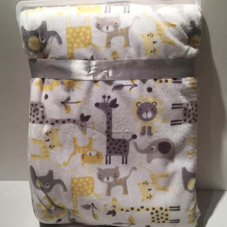 Large Pastel Silk Scren Colors Baby Blanket Unisex
