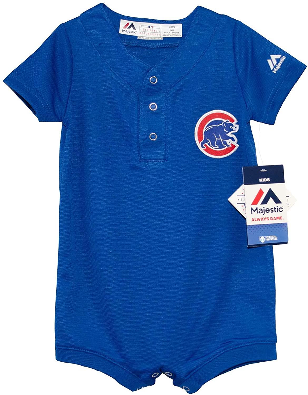Chicago Cubs Blue Alternate Cool Base Romper Jersey 24 Months
