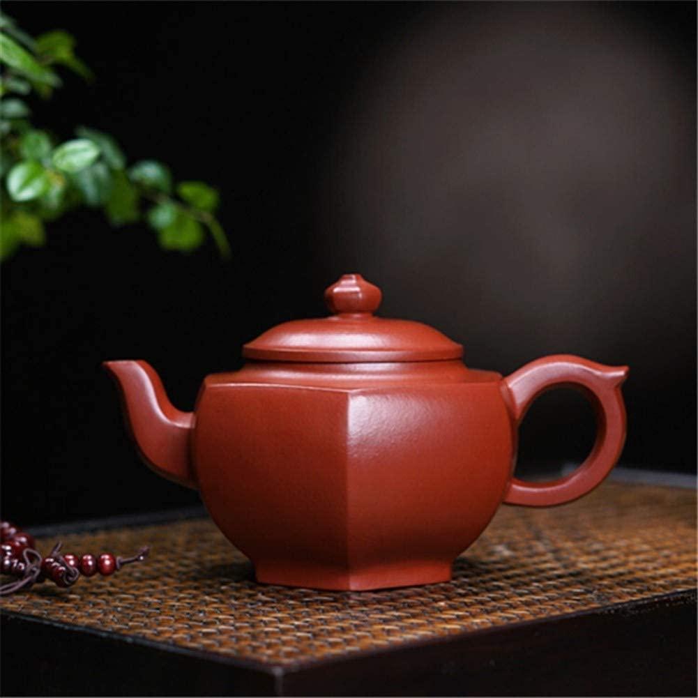 SHENLIJUAN Manual ore teapot famous Big Red hexagonal lanterns (Color : Red)