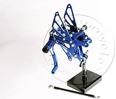 Frames & Fittings for Kawasaki ZX-10R ZX10R 2006 2007 2008 2009 2010 Footrests Rearset CNC Rear Set Adjustable Foot Pegs Footpeg - (Color: Blue)